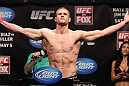 EAST RUTHERFORD, NJ - MAY 04:  Pascal Krauss weighs in during the UFC on FOX official weigh in at Izod Center on May 4, 2012 in East Rutherford, New Jersey.  (Photo by Josh Hedges/Zuffa LLC/Zuffa LLC via Getty Images)