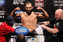 EAST RUTHERFORD, NJ - MAY 04:  Johny Hendricks weighs in during the UFC on FOX official weigh in at Izod Center on May 4, 2012 in East Rutherford, New Jersey.  (Photo by Josh Hedges/Zuffa LLC/Zuffa LLC via Getty Images)