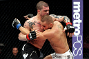 EAST RUTHERFORD, NJ - MAY 05:  Karlos Vemola (R) and Mike Massenzio (L) fight during thier Middleweight bout at Izod Center on May 5, 2012 in East Rutherford, New Jersey.  (Photo by Josh Hedges/Zuffa LLC/Zuffa LLC via Getty Images)