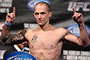 FAIRFAX, VA - MAY 14:  Jeff Curran makes weight during the UFC on Fuel TV official weigh in at Patriot Center on May 14, 2012 in Fairfax, Virginia.  (Photo by Josh Hedges/Zuffa LLC/Zuffa LLC via Getty Images)