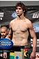 FAIRFAX, VA - MAY 14:  Cody McKenzie makes weight during the UFC on Fuel TV official weigh in at Patriot Center on May 14, 2012 in Fairfax, Virginia.  (Photo by Josh Hedges/Zuffa LLC/Zuffa LLC via Getty Images)