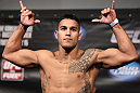 FAIRFAX, VA - MAY 14:  Brad Tavares makes weight during the UFC on Fuel TV official weigh in at Patriot Center on May 14, 2012 in Fairfax, Virginia.  (Photo by Josh Hedges/Zuffa LLC/Zuffa LLC via Getty Images)