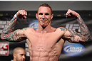 FAIRFAX, VA - MAY 14:  Jason MacDonald makes weight during the UFC on Fuel TV official weigh in at Patriot Center on May 14, 2012 in Fairfax, Virginia.  (Photo by Josh Hedges/Zuffa LLC/Zuffa LLC via Getty Images)