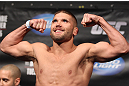 FAIRFAX, VA - MAY 14:  Jeremy Stephens makes weight during the UFC on Fuel TV official weigh in at Patriot Center on May 14, 2012 in Fairfax, Virginia.  (Photo by Josh Hedges/Zuffa LLC/Zuffa LLC via Getty Images)