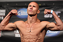 "FAIRFAX, VA - MAY 14:  Donald ""Cowboy"" Cerrone makes weight during the UFC on Fuel TV official weigh in at Patriot Center on May 14, 2012 in Fairfax, Virginia.  (Photo by Josh Hedges/Zuffa LLC/Zuffa LLC via Getty Images)"