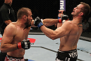 FAIRFAX, VA - MAY 15:  (L-R) Igor Pokrajac punches Fabio Maldonado in a light heavyweight bout during the UFC on Fuel TV event at Patriot Center on May 15, 2012 in Fairfax, Virginia.  (Photo by Josh Hedges/Zuffa LLC/Zuffa LLC via Getty Images)