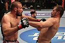 FAIRFAX, VA - MAY 15:  (L-R) Igor Pokrajac and Fabio Maldonado trade punches in a light heavyweight bout during the UFC on Fuel TV event at Patriot Center on May 15, 2012 in Fairfax, Virginia.  (Photo by Josh Hedges/Zuffa LLC/Zuffa LLC via Getty Images)