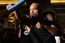 LAS VEGAS, NV - MAY 23:   Lavar Johnson works out for the media and fans during the UFC 146 Open Workouts at MGM Grand on May 23, 2012 in Las Vegas, Nevada.  (Photo by Josh Hedges/Zuffa LLC/Zuffa LLC via Getty Images)