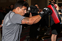 LAS VEGAS, NV - MAY 23:   Frank Mir works out for the media and fans during the UFC 146 Open Workouts at MGM Grand on May 23, 2012 in Las Vegas, Nevada.  (Photo by Josh Hedges/Zuffa LLC/Zuffa LLC via Getty Images)