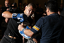 LAS VEGAS, NV - MAY 23:   Cain Velasquez works out for the media and fans during the UFC 146 Open Workouts at MGM Grand on May 23, 2012 in Las Vegas, Nevada.  (Photo by Josh Hedges/Zuffa LLC/Zuffa LLC via Getty Images)