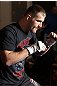 LAS VEGAS, NV - MAY 23:   Stipe Miocic works out for the media and fans during the UFC 146 Open Workouts at MGM Grand on May 23, 2012 in Las Vegas, Nevada.  (Photo by Josh Hedges/Zuffa LLC/Zuffa LLC via Getty Images)