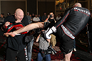 LAS VEGAS, NV - MAY 23:   Stefan Struve works out for the media and fans during the UFC 146 Open Workouts at MGM Grand on May 23, 2012 in Las Vegas, Nevada.  (Photo by Josh Hedges/Zuffa LLC/Zuffa LLC via Getty Images)