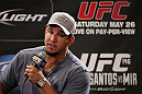 LAS VEGAS, NV - MAY 24:   Former UFC Heavyweight Champion Frank Mir attends the UFC 146 press conference at MGM Grand on May 24, 2012 in Las Vegas, Nevada.  (Photo by Josh Hedges/Zuffa LLC/Zuffa LLC via Getty Images)