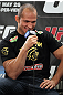 LAS VEGAS, NV - MAY 24:   UFC Heavyweight Champion Junior dos Santos attends the UFC 146 press conference at MGM Grand on May 24, 2012 in Las Vegas, Nevada.  (Photo by Josh Hedges/Zuffa LLC/Zuffa LLC via Getty Images)