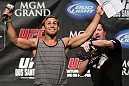 LAS VEGAS, NV - MAY 25:   Urijah Faber interacts with fans during a Q&amp;A session before the UFC 146 official weigh in at the MGM Grand Garden Arena on May 25, 2012 in Las Vegas, Nevada.  (Photo by Josh Hedges/Zuffa LLC/Zuffa LLC via Getty Images)