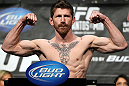 LAS VEGAS, NV - MAY 25:   Mike Brown makes weight during the UFC 146 official weigh in at the MGM Grand Garden Arena on May 25, 2012 in Las Vegas, Nevada.  (Photo by Josh Hedges/Zuffa LLC/Zuffa LLC via Getty Images)
