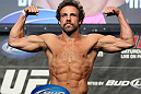LAS VEGAS, NV - MAY 25:   Kyle Kingsbury makes weight during the UFC 146 official weigh in at the MGM Grand Garden Arena on May 25, 2012 in Las Vegas, Nevada.  (Photo by Josh Hedges/Zuffa LLC/Zuffa LLC via Getty Images)