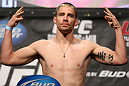 "LAS VEGAS, NV - MAY 25:   Duane ""Bang"" Ludwig makes weight during the UFC 146 official weigh in at the MGM Grand Garden Arena on May 25, 2012 in Las Vegas, Nevada.  (Photo by Josh Hedges/Zuffa LLC/Zuffa LLC via Getty Images)"