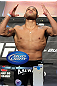 LAS VEGAS, NV - MAY 25:   Antonio &quot;BigFoot&quot; Silva makes weight ahead of his bout against Cain Velasquez during the UFC 146 official weigh in at the MGM Grand Garden Arena on May 25, 2012 in Las Vegas, Nevada.  (Photo by Josh Hedges/Zuffa LLC/Zuffa LLC via Getty Images)