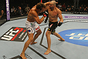 LAS VEGAS, NV - MAY 26:  Glover Teixeira (R) punches Kyle Kingsbury during a light heavyweight bout at UFC 146 at MGM Grand Garden Arena on May 26, 2012 in Las Vegas, Nevada.  (Photo by Donald Miralle/Zuffa LLC/Zuffa LLC via Getty Images)