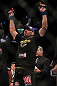 LAS VEGAS, NV - MAY 26:  Glover Teixeira reacts to being declared the winner in his fight against Kyle Kingsbury during a light heavyweight bout at UFC 146 at MGM Grand Garden Arena on May 26, 2012 in Las Vegas, Nevada.  (Photo by Josh Hedges/Zuffa LLC/Zuffa LLC via Getty Images)
