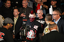 LAS VEGAS, NV - MAY 26:  Dan Hardy walks towards the Octagon during a welterweight bout at UFC 146 at MGM Grand Garden Arena on May 26, 2012 in Las Vegas, Nevada.  (Photo by Donald Miralle/Zuffa LLC/Zuffa LLC via Getty Images)