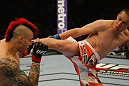 LAS VEGAS, NV - MAY 26:  Duane Ludwig (right) kicks Dan Hardy during a welterweight bout at UFC 146 at MGM Grand Garden Arena on May 26, 2012 in Las Vegas, Nevada.  (Photo by Donald Miralle/Zuffa LLC/Zuffa LLC via Getty Images)