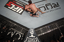 LAS VEGAS, NV - MAY 26:  Darren Elkins (R) punches Diego Brandao during a featherweight bout at UFC 146 at MGM Grand Garden Arena on May 26, 2012 in Las Vegas, Nevada.  (Photo by Donald Miralle/Zuffa LLC/Zuffa LLC via Getty Images)