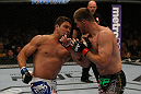 LAS VEGAS, NV - MAY 26:  Shane Del Rosario (L) punches Stipe Miocic during a heavyweight bout at UFC 146 at MGM Grand Garden Arena on May 26, 2012 in Las Vegas, Nevada.  (Photo by Donald Miralle/Zuffa LLC/Zuffa LLC via Getty Images)
