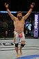LAS VEGAS, NV - MAY 26:  Roy Nelson reacts to his knockout victory over Dave Herman during a heavyweight bout at UFC 146 at MGM Grand Garden Arena on May 26, 2012 in Las Vegas, Nevada.  (Photo by Donald Miralle/Zuffa LLC/Zuffa LLC via Getty Images)
