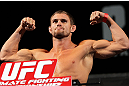LAS VEGAS, NV - MAY 31:   Daron Cruickshank makes weight during The Ultimate Fighter Live weigh in at the Palms Casino Resort on May 31, 2012 in Las Vegas, Nevada.  (Photo by Josh Hedges/Zuffa LLC/Zuffa LLC via Getty Images)  *** Local Caption *** Daron Cruickshank