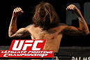 LAS VEGAS, NV - MAY 31:   Michael Chiesa makes weight during The Ultimate Fighter Live weigh in at the Palms Casino Resort on May 31, 2012 in Las Vegas, Nevada.  (Photo by Josh Hedges/Zuffa LLC/Zuffa LLC via Getty Images)  *** Local Caption *** Michael Chiesa