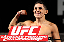 LAS VEGAS, NV - MAY 31:   Erik Perez makes weigh during The Ultimate Fighter Live weigh in at the Palms Casino Resort on May 31, 2012 in Las Vegas, Nevada.  (Photo by Josh Hedges/Zuffa LLC/Zuffa LLC via Getty Images)  *** Local Caption *** Erik Perez