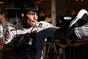 SUNRISE, FL - JUNE 06:   Erick Silva works out for fans and media during the UFC open workouts at Sawgrass Mills Mall on June 6, 2012 in Sunrise, Florida.  (Photo by Josh Hedges/Zuffa LLC/Zuffa LLC via Getty Images)