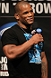 SUNRISE, FL - JUNE 07:   Hector Lombard interacts with fans during a Q&A session before the UFC on FX 3 official weigh in at Bank Atlantic Center on June 7, 2012 in Sunrise, Florida.  (Photo by Josh Hedges/Zuffa LLC/Zuffa LLC via Getty Images)