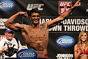 SUNRISE, FL - JUNE 07:   Carlos Eduardo Rocha makes weight during the UFC on FX 3 official weigh in at Bank Atlantic Center on June 7, 2012 in Sunrise, Florida.  (Photo by Josh Hedges/Zuffa LLC/Zuffa LLC via Getty Images)
