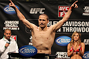 SUNRISE, FL - JUNE 07:   Mike Pierce makes weight during the UFC on FX 3 official weigh in at Bank Atlantic Center on June 7, 2012 in Sunrise, Florida.  (Photo by Josh Hedges/Zuffa LLC/Zuffa LLC via Getty Images)