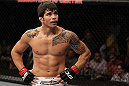 SUNRISE, FL - JUNE 08:   Erick Silva reacts after defeating Charlie Brenneman by submission in a Welterweight bout during the UFC on FX 3 event at Bank Atlantic Center on June 8, 2012 in Sunrise, Florida.  (Photo by Josh Hedges/Zuffa LLC/Zuffa LLC via Getty Images)