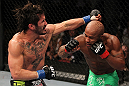 SUNRISE, FL - JUNE 08:   (R-L) Demetrious Johnson and Ian McCall trade punches in a Flyweight bout during the UFC on FX 3 event at Bank Atlantic Center on June 8, 2012 in Sunrise, Florida.  (Photo by Josh Hedges/Zuffa LLC/Zuffa LLC via Getty Images)