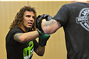 ATLANTIC CITY, NJ - JUNE 20: Clay Guida trains for a photograph after an open workout prior to UFC on FX at Revel Casino in Atlantic City, New Jersey. (Photo by Drew Hallowell/Zuffa LLC/Zuffa LLC via Getty Images)