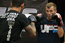 ATLANTIC CITY, NJ - JUNE 20: Spencer Fisher trains during an open workout prior to UFC on FX at Revel Casino in Atlantic City, New Jersey. (Photo by Drew Hallowell/Zuffa LLC/Zuffa LLC via Getty Images)