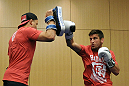 ATLANTIC CITY, NJ - JUNE 20: Sam Stout trains during an open workout prior to UFC on FX at Revel Casino in Atlantic City, New Jersey. (Photo by Drew Hallowell/Zuffa LLC/Zuffa LLC via Getty Images)