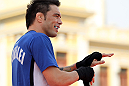 BELO HORIZONTE, BRAZIL - JUNE 20:   Rony Mariano Bezerra works out for the fans and media during the UFC 147 open workouts at Praca da Estacao on June 20, 2012 in Belo Horizonte, Brazil.  (Photo by Josh Hedges/Zuffa LLC/Zuffa LLC via Getty Images)