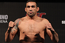 BELO HORIZONTE, BRAZIL - JUNE 22:   Fabricio Werdum makes weight during the UFC 147 weigh in at Estadio Jornalista Felipe Drummond on June 22, 2012 in Belo Horizonte, Brazil.  (Photo by Josh Hedges/Zuffa LLC/Zuffa LLC via Getty Images)