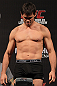 BELO HORIZONTE, BRAZIL - JUNE 22:   Rich Franklin makes weight during the UFC 147 weigh in at Estadio Jornalista Felipe Drummond on June 22, 2012 in Belo Horizonte, Brazil.  (Photo by Josh Hedges/Zuffa LLC/Zuffa LLC via Getty Images)