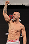 BELO HORIZONTE, BRAZIL - JUNE 22:   Wanderlei Silva makes weight during the UFC 147 weigh in at Estadio Jornalista Felipe Drummond on June 22, 2012 in Belo Horizonte, Brazil.  (Photo by Josh Hedges/Zuffa LLC/Zuffa LLC via Getty Images)