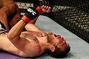 ATLANTIC CITY, NJ - JUNE 22:  Dan Miller celebrates his submission by guillotine choke to win over Ricardo Funch (not pictured) in a welterweight bout during UFC on FX 4 at Revel Casino on June 22, 2012 in Atlantic City, New Jersey.  (Photo by Nick Laham/Zuffa LLC/Zuffa LLC)