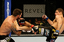 ATLANTIC CITY, NJ - JUNE 22: Luis Ramos (R) throws a kick at Matt Brown (L) in a welterweight bout during UFC on FX 4 at Revel Casino on June 22, 2012 in Atlantic City, New Jersey.  (Photo by Nick Laham/Zuffa LLC/Zuffa LLC)