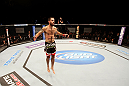 ATLANTIC CITY, NJ - JUNE 22:  Matt Brown celebrates his win by TKO (knees and punches) over Luis Ramos (not pictured) in a welterweight bout during UFC on FX 4 at Revel Casino on June 22, 2012 in Atlantic City, New Jersey.  (Photo by Nick Laham/Zuffa LLC/Zuffa LLC)