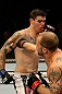 ATLANTIC CITY, NJ - JUNE 22: Nick Catone (R) throws a punch against Chris Camozzi (L) in a middleweight bout during UFC on FX 4 at Revel Casino on June 22, 2012 in Atlantic City, New Jersey.  (Photo by Nick Laham/Zuffa LLC/Zuffa LLC)